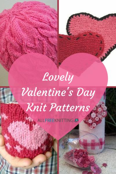 40 Lovely Valentines Day Knit Patterns Allfreeknitting