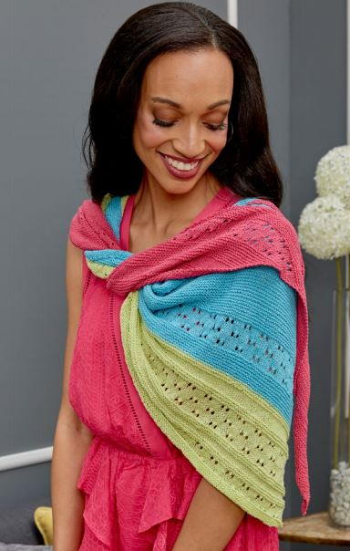 Easy Asymmetrical Knit Shawl