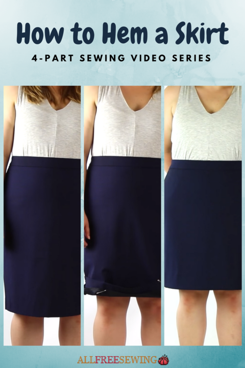 How to Hem a Skirt (Sewing Video Lessons) | AllFreeSewing.com