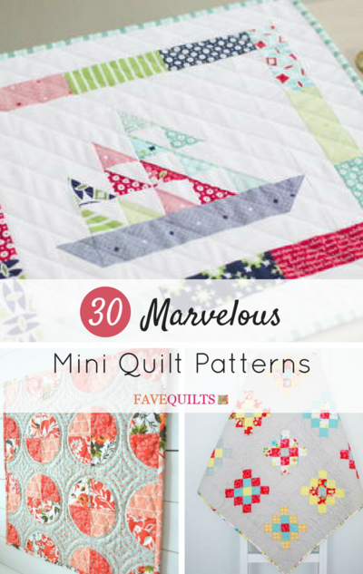 40 Marvelous Mini Quilt Patterns FaveQuilts Interesting Mini Quilt Patterns