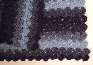 Waves of Gray Block Afghan
