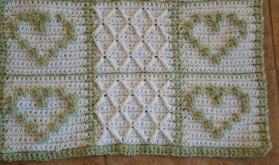 Crochet Heart Pattern Afghan Allfreecrochetafghanpatterns
