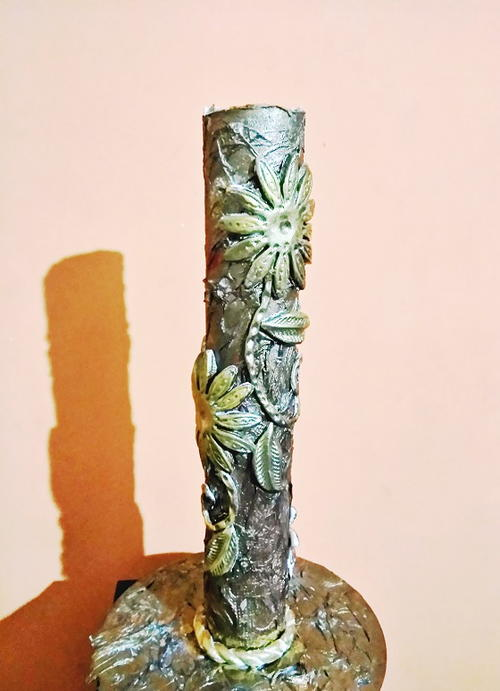 How To Make A Vase From Cardboard Roll Diyideacenter