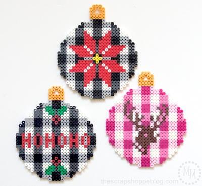 creative perler bead christmas ornaments - Perler Beads Christmas