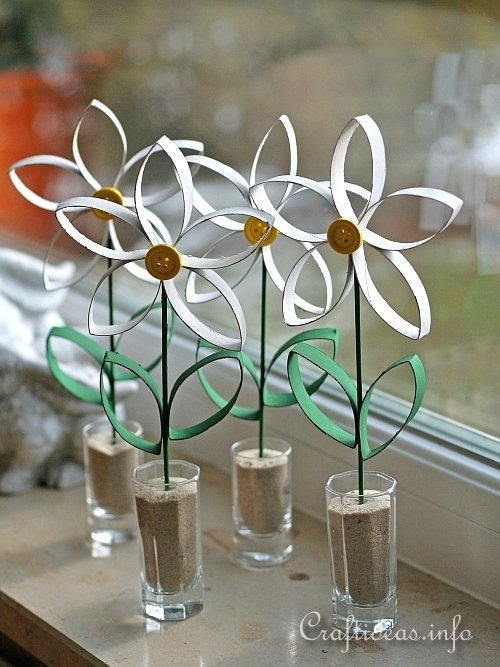 Toilet Paper Roll Daisies