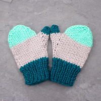 Flat Knit Kid's Mittens