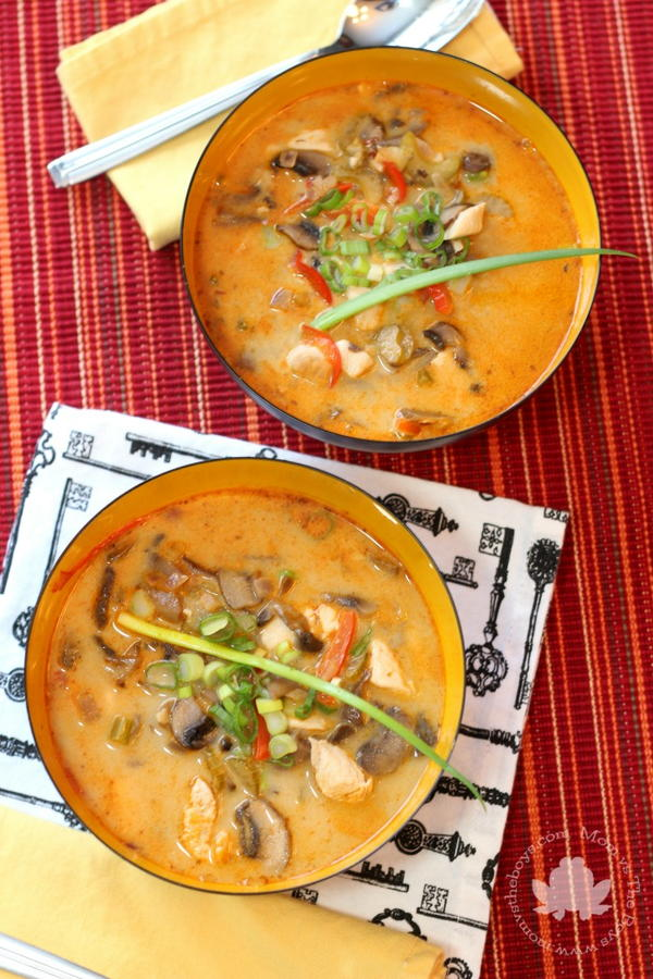 Spicy Thai Chicken Soup (Clear Your Sinuses)