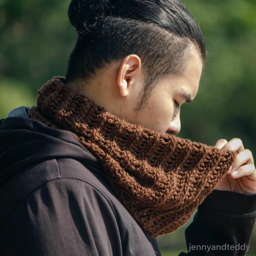 Latte Neck Warmer Men Cowl Allfreecrochet