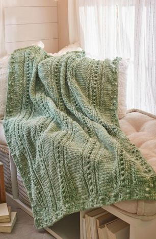 Comforting One-Color Crochet Throw
