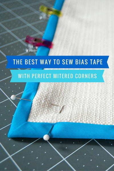 How to Sew Bias Tape with Mitered Corners