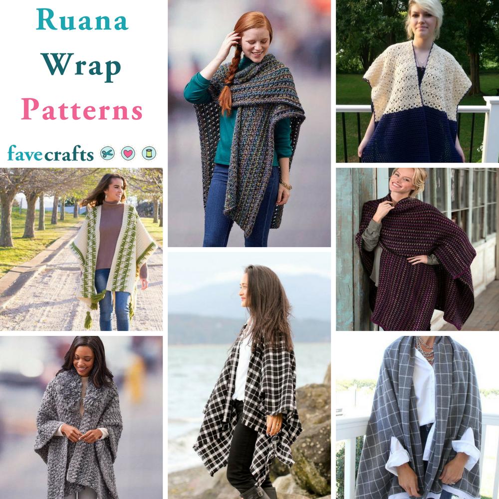 9 Ruana Wrap Patterns   FaveCrafts.com