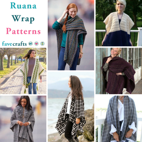 60 Ruana Wrap Patterns FaveCrafts Best Crochet Ruana Pattern