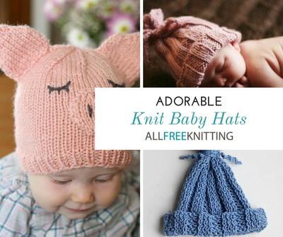 34 Adorable Knit Baby Hats