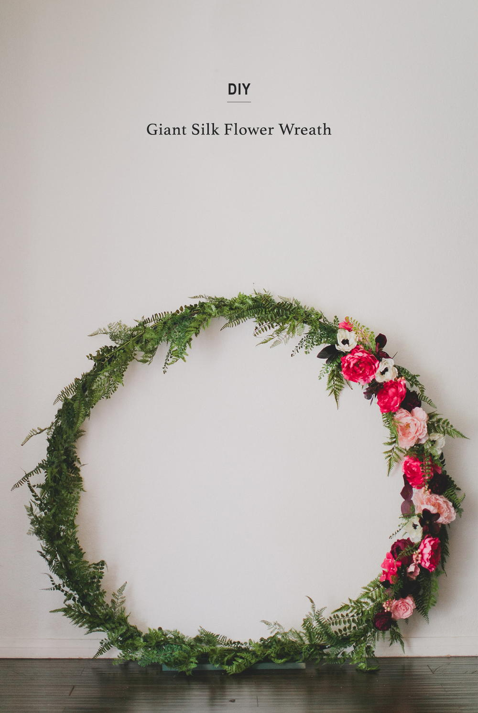 Giant Silk Flower Wreath Allfreediyweddings