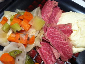 Lucky Corned Beef and Cabbage with Horseradish Mashed Potatoes