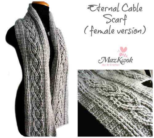 Eternal Cable Scarf (Female Version )