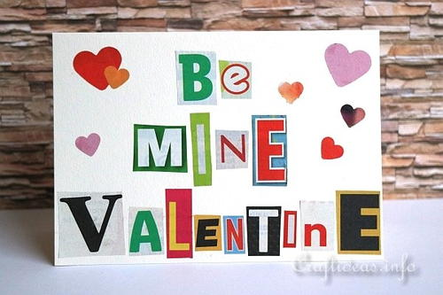 ransom note valentines day card