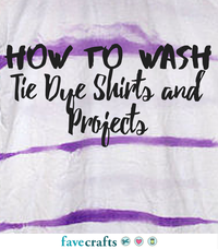 How to Wash Tie Dye Shirts and Projects