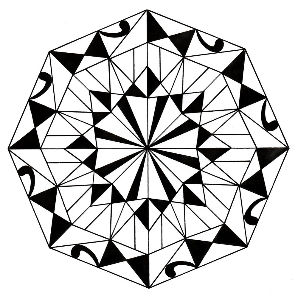 Kaleidoscope Mandala Adult Coloring Page Favecrafts Com