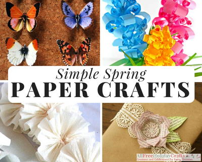 32 simple spring paper crafts allfreeholidaycrafts paper craft ideas are so much fun to make especially when you have a pretty spring color palette to work with since we love paper projects and spring mightylinksfo