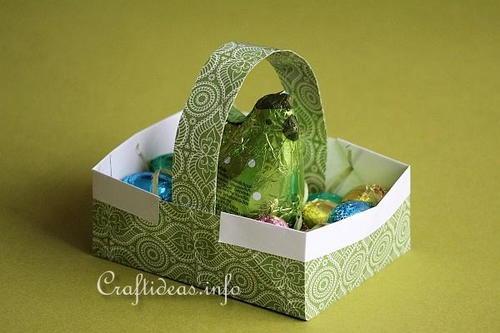 Easy Origami Easter Basket Allfreeholidaycrafts