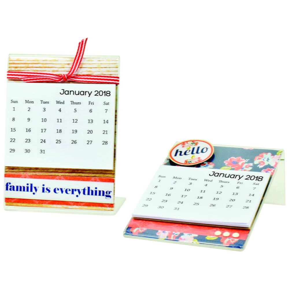 Diy Mini Desk Calendar : Diy mini desk calendar favecrafts