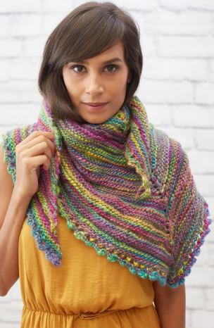 Colorful and Chic Knit Shawlette