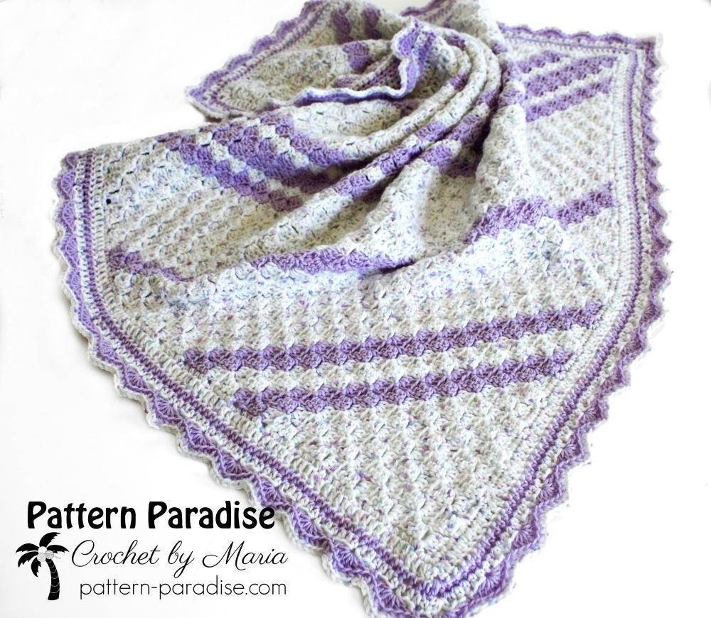 Lavender Baby Blanket Crochet Pattern | AllFreeCrochet.com