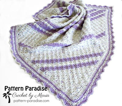 Lavender Baby Blanket Crochet Pattern Allfreecrochet