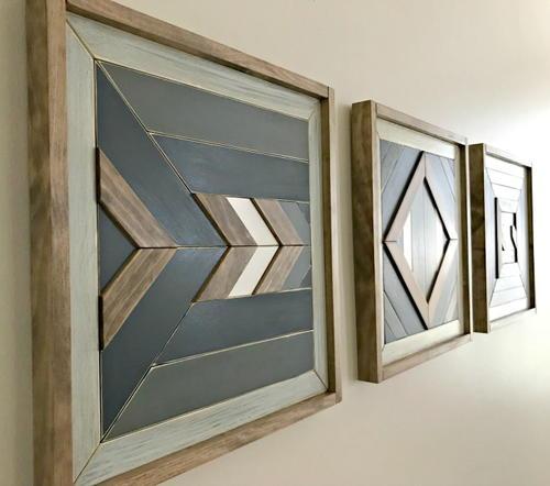 DIY Scrap Wood Wall Art Tutorial | DIYIdeaCenter.com