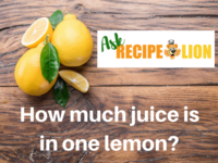 How Much Juice is in One Lemon?