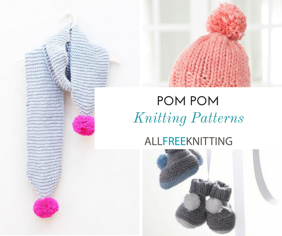 28 Pom Pom Knitting Patterns | AllFreeKnitting.com