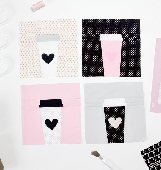 Coffee Cup Quilt Block