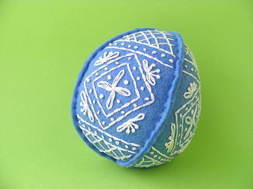 Fancy Embroidered Felt Egg