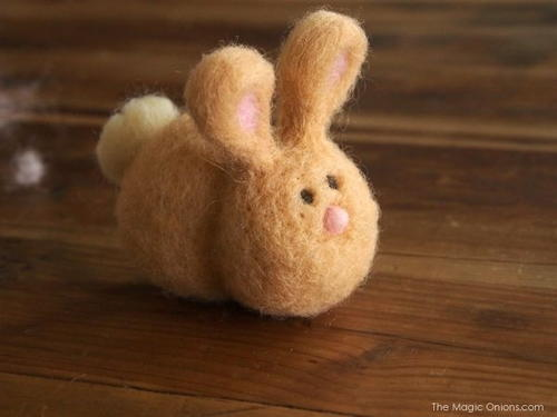 Cute Bunny Needle Felting Tutorial
