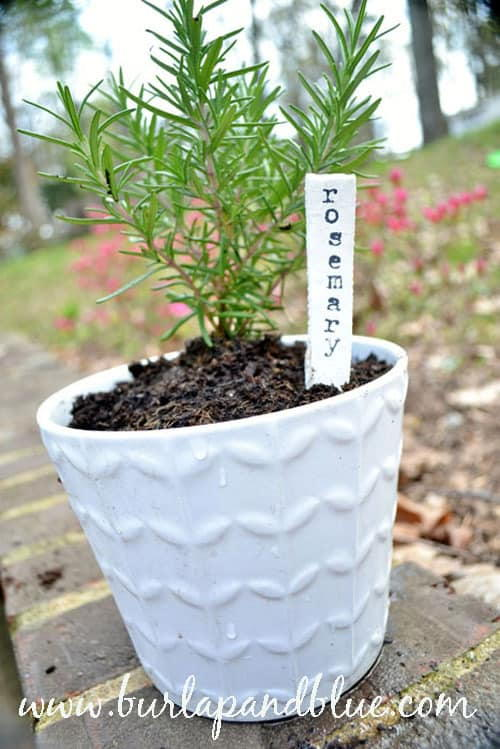 Nice DIY Clay Garden Tags