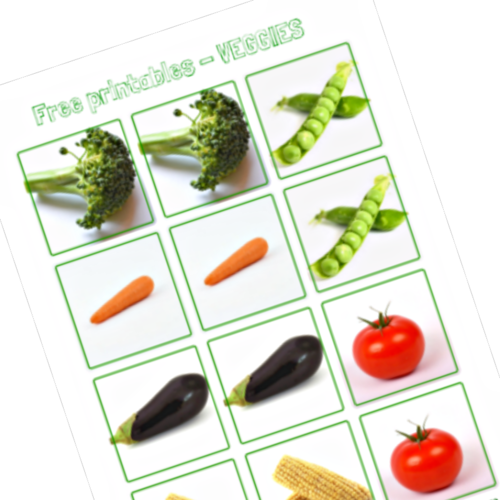 Free Printables Series For Kids - Memory Game