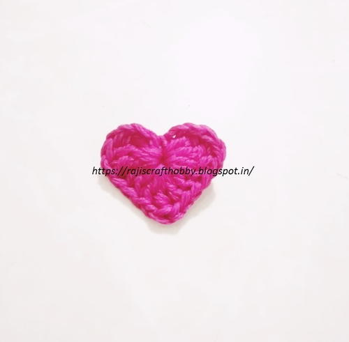 Small Crochet Heart Applique
