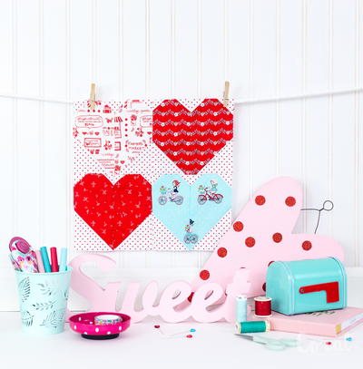 Valentines Day Mini Quilt Pattern Allfreesewing Com