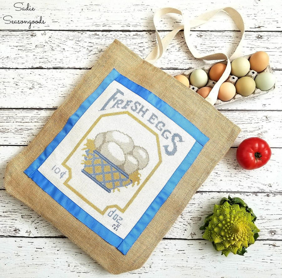 Allfreesewing 100s of free sewing patterns vintage cross stitch diy grocery bag jeuxipadfo Image collections