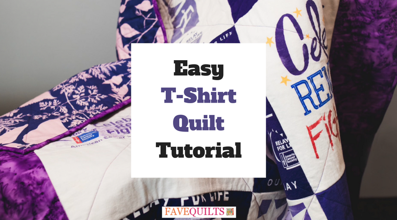 Easy T Shirt Quilt Video Tutorial Favequilts Com