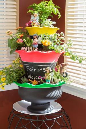 3 tier diy indoor fairy garden - Indoor Fairy Garden