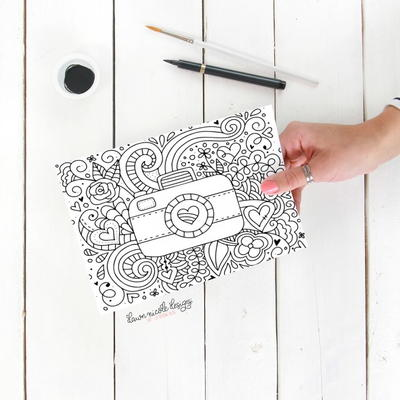 Say Cheese Coloring Page