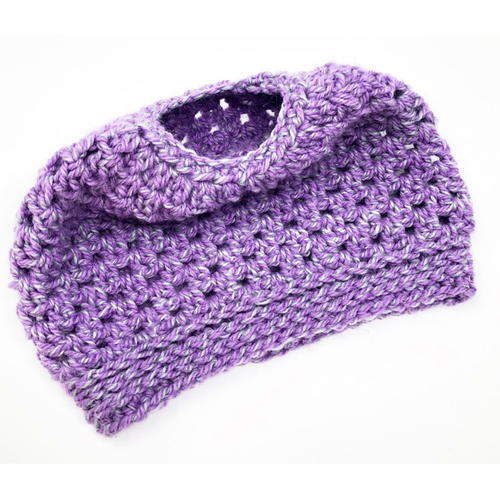 Easy Peasy Messy Bun Crochet Hat Pattern