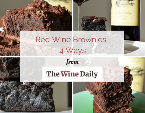 Red Wine Brownies 4 Ways