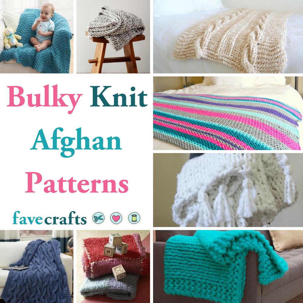27 Bulky Knit Afghan Patterns | FaveCrafts.com