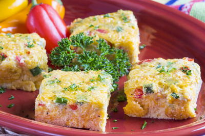 Green Chili Cheese Squares