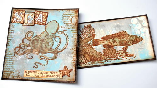Nautical Octopus and Fish Card