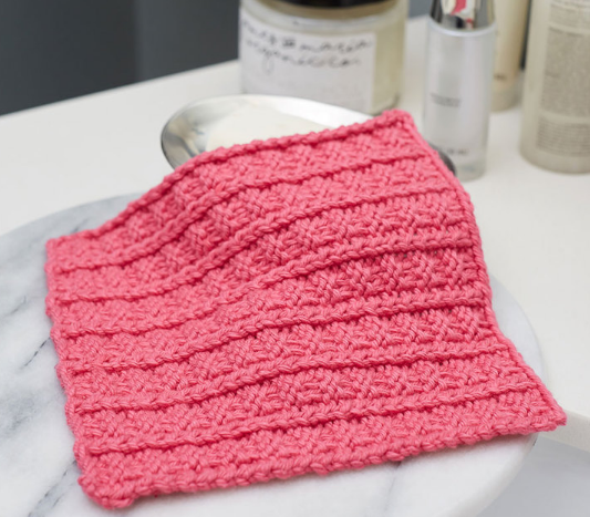 Sailors Rib Stitch Washcloth