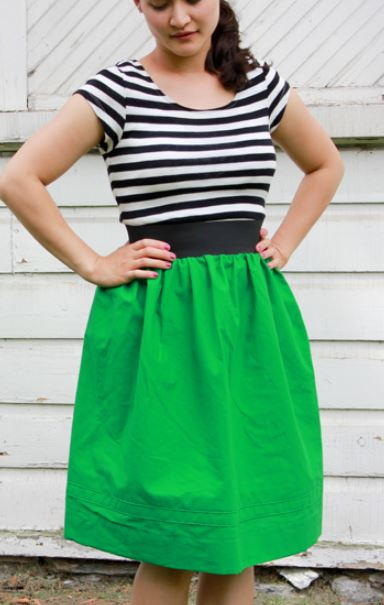 Spring Gathered Skirt Tutorial